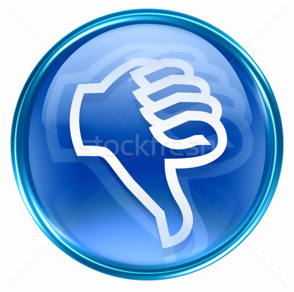thumb down icon blue, isolated on white background. Stock photo © zeffss
