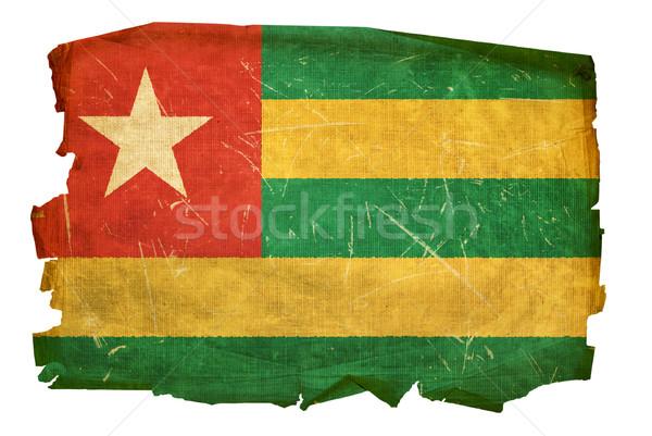 Togo Flag old, isolated on white background. Stock photo © zeffss