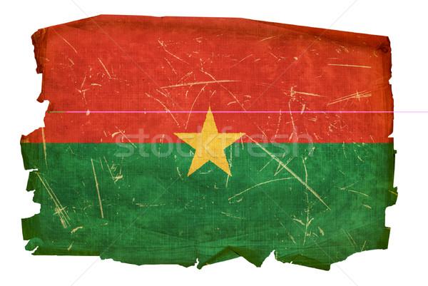 Burkina Faso flag old, isolated on white background Stock photo © zeffss