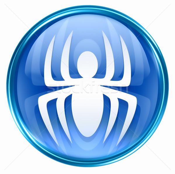 Virus icon blue, isolated on white background.  Stock photo © zeffss