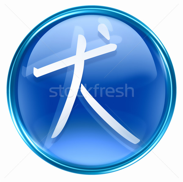 Dog Zodiac icon blue, isolated on white background. Stock photo © zeffss