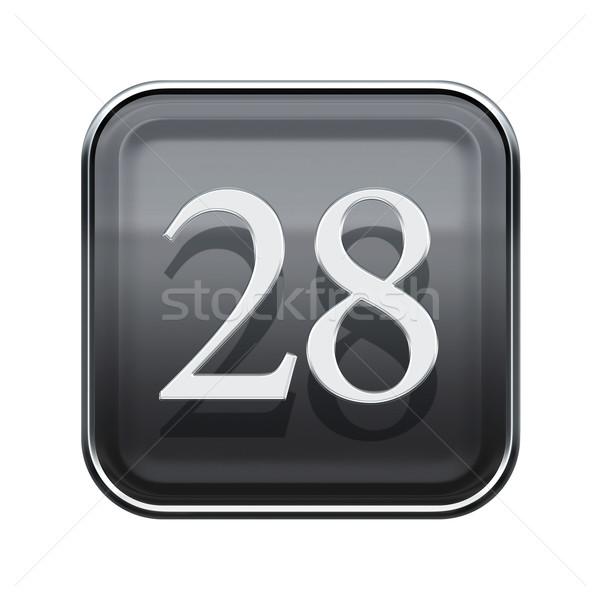 Vinte oito ícone cinza isolado Foto stock © zeffss