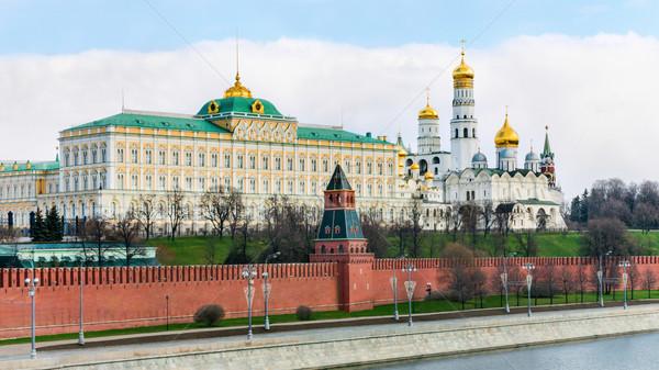 Moscow Kremlin and Novodevichy convent Stock photo © zeffss