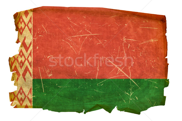 Belarus Flag old, isolated on white background. Stock photo © zeffss