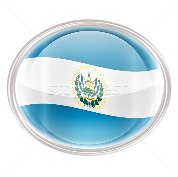 El Salvador vlag icon geïsoleerd witte computer Stockfoto © zeffss