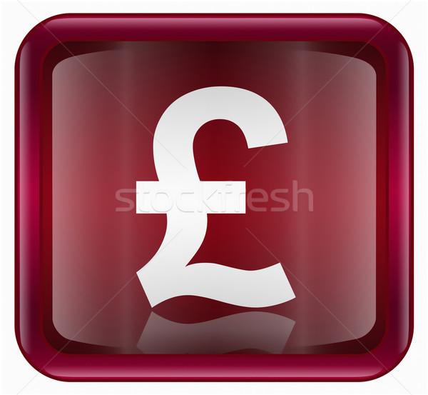 Pound icon dark red, isolated on white background  Stock photo © zeffss