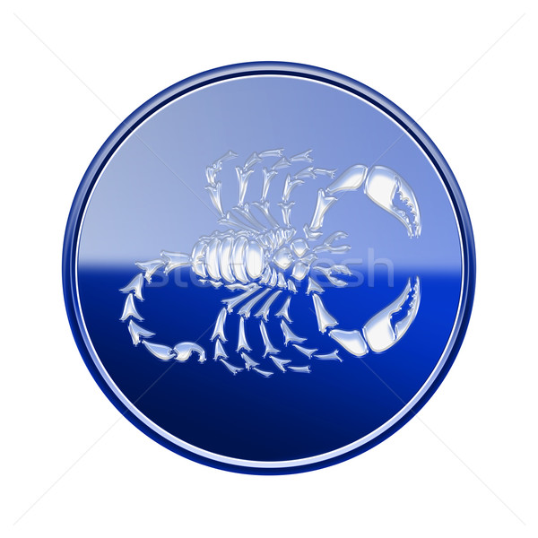 Scorpio zodiac icon blue, isolated on white background Stock photo © zeffss