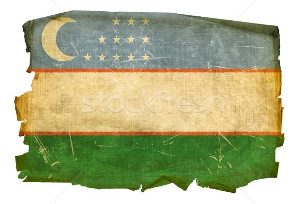 Üzbegisztán zászló öreg izolált fehér festmény Stock fotó © zeffss