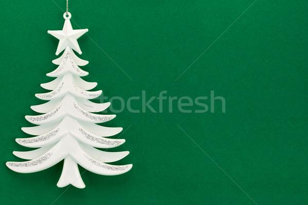 Noel ağacı yeşil kadife kâğıt doğa ışık Stok fotoğraf © zeffss