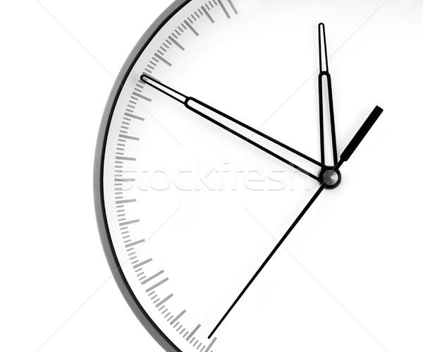 Parede relógio isolado branco mão fundo Foto stock © zeffss