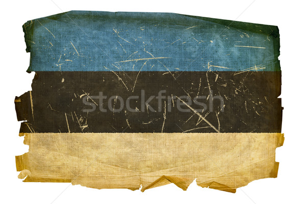 Estonia Flag old, isolated on white background. Stock photo © zeffss