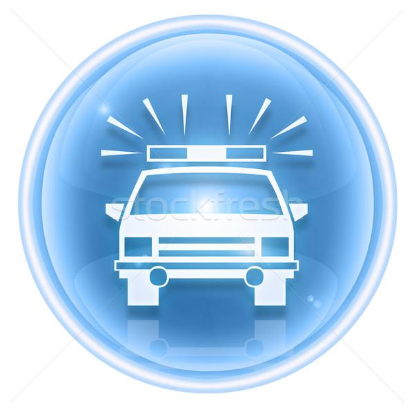 police icon ice, isolated on white background. Stock photo © zeffss