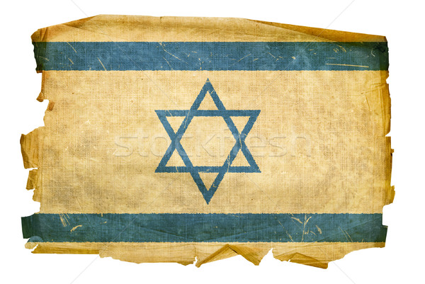 Israeli Flag old, isolated on white background. Stock photo © zeffss