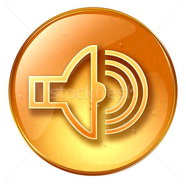 Speaker icon yellow, isolated on white background. Stock photo © zeffss