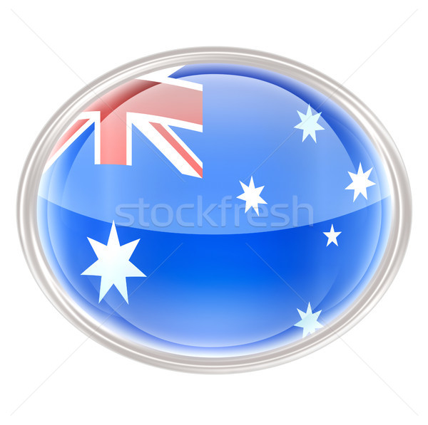 Australia Flag Icon, isolated on white background. Stock photo © zeffss