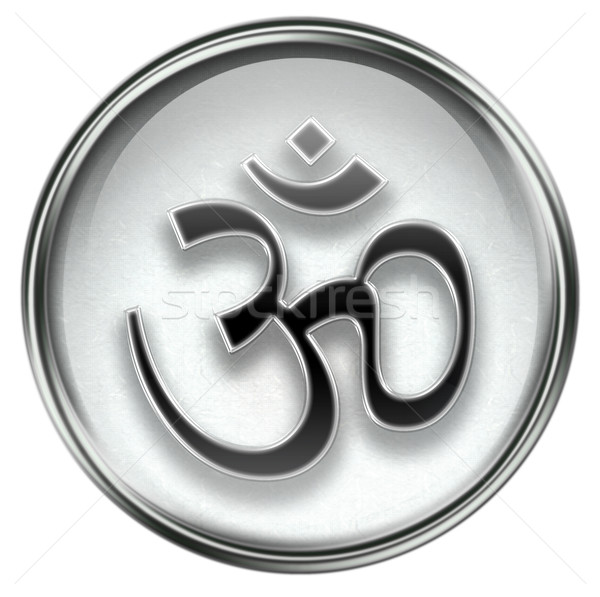 Om Symbol icon grey Stock photo © zeffss