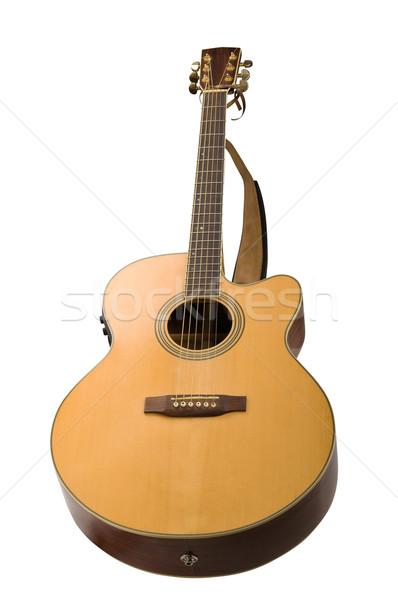 Stock fotó: Klasszikus · akusztikus · gitár · izolált · fehér · zene · terv