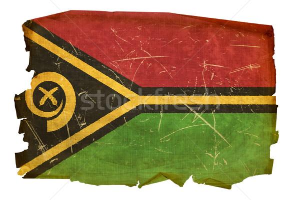 Vanuatu bandeira velho isolado branco pintura Foto stock © zeffss