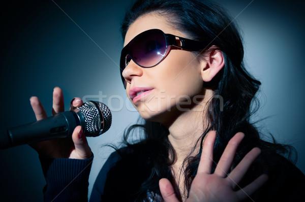 Сток-фото: девушки · пения · этап · музыку
