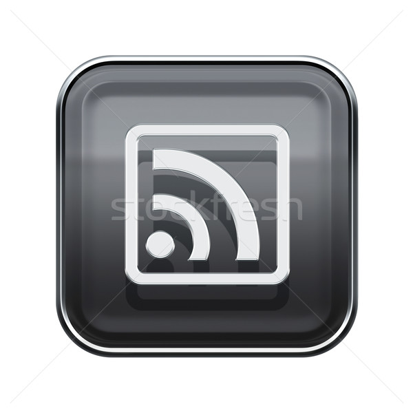 Wifi ikon parlak gri yalıtılmış beyaz Stok fotoğraf © zeffss