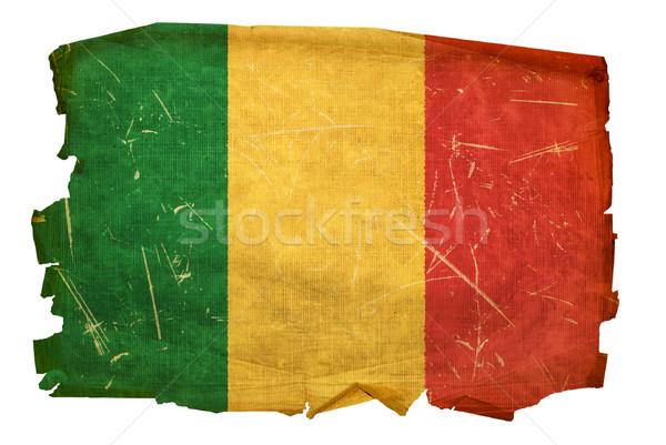 Mali Flag old, isolated on white background. Stock photo © zeffss