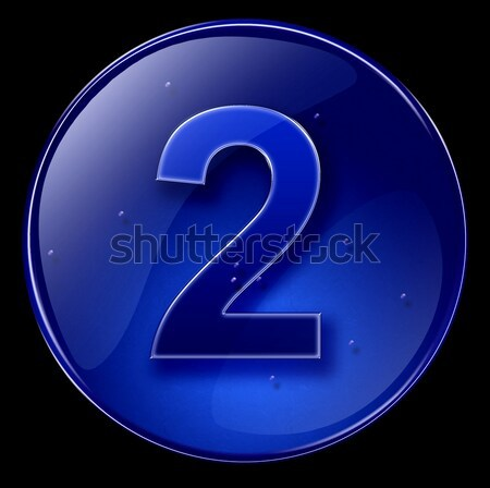 information icon dark blue, isolated on black background Stock photo © zeffss