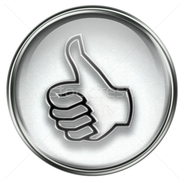 thumb up icon grey Stock photo © zeffss