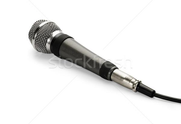 Microfoon geïsoleerd witte rock concert communicatie Stockfoto © zeffss