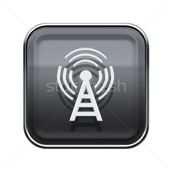 Wi-fi башни икона серый изолированный Сток-фото © zeffss