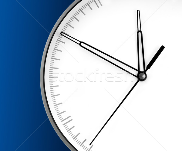 Wall Clock, isolated on blue background Stock photo © zeffss