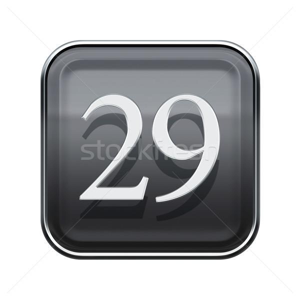 Vinte nove ícone cinza isolado Foto stock © zeffss