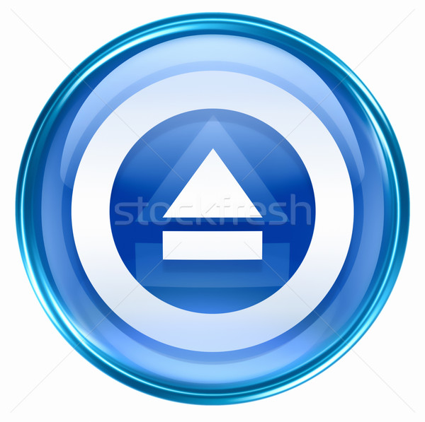Eject icon blue, isolated on white background. Stock photo © zeffss
