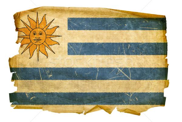 Bayrak eski yalıtılmış beyaz boyama Retro Stok fotoğraf © zeffss