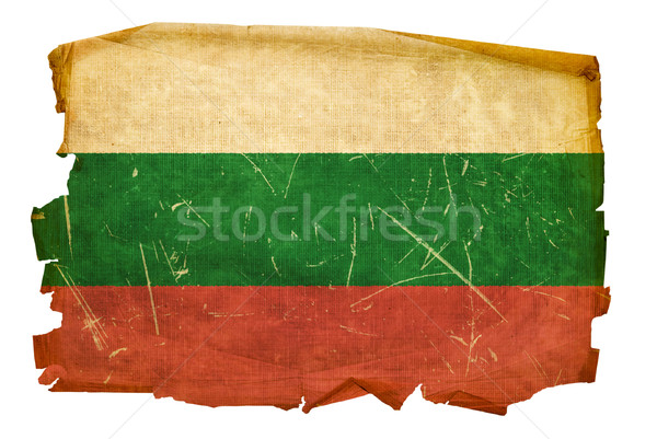Bulgaria Flag old, isolated on white background. Stock photo © zeffss