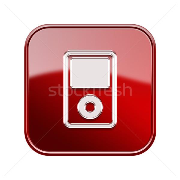 Lettore mp3 lucido rosso isolato bianco design Foto d'archivio © zeffss