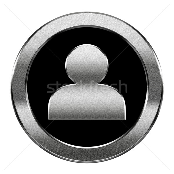 User icon silver, isolated on white background Stock photo © zeffss