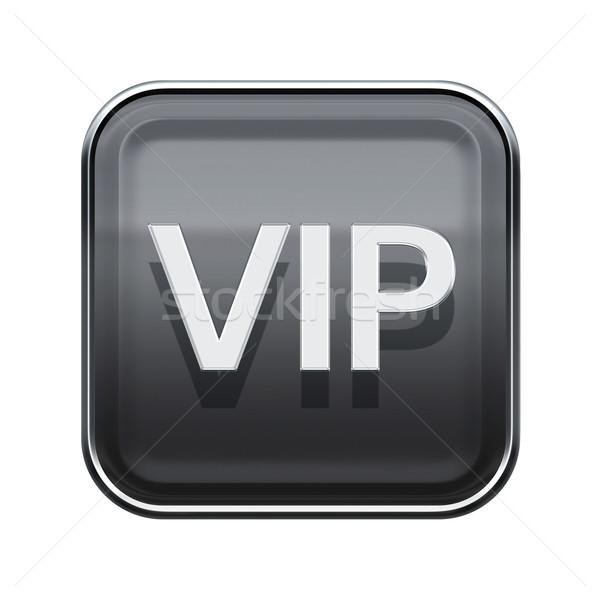 Vip ícone cinza isolado branco Foto stock © zeffss