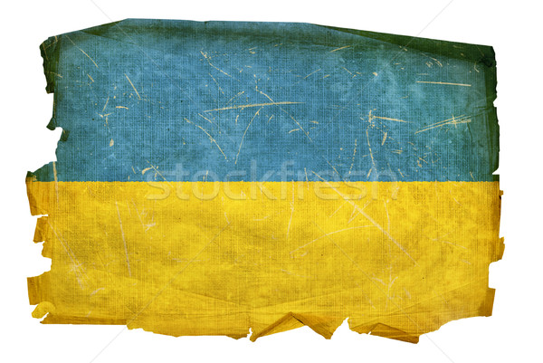 Ukraine Flag old, isolated on white background. Stock photo © zeffss