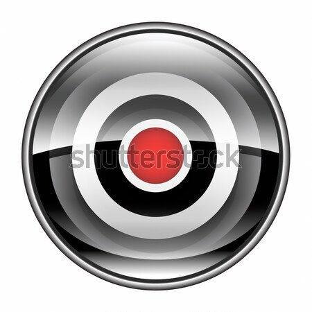 Record icon black, isolated on white background. Stock photo © zeffss