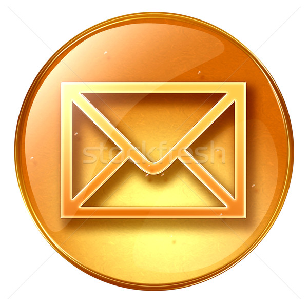 postal envelope yellow, isolated on white background Stock photo © zeffss