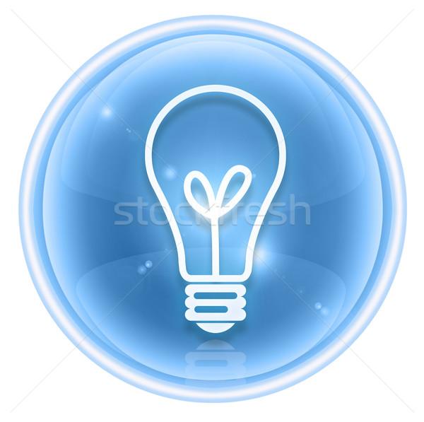 żarówka ikona lodu odizolowany biały komputera Zdjęcia stock © zeffss