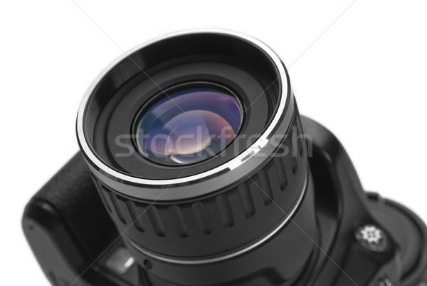 Fotocamera digitale vetro stampa bianco studio ruota Foto d'archivio © zeffss