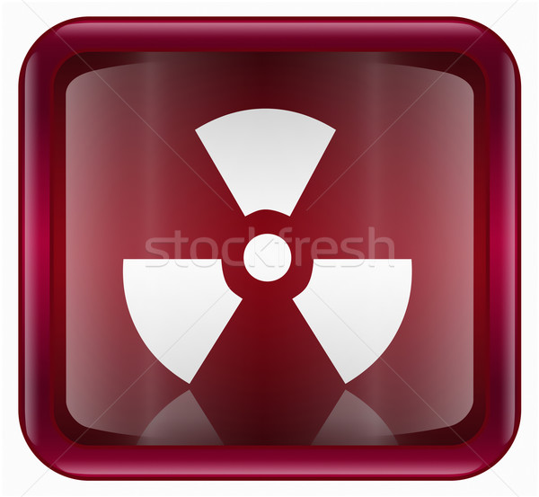 Radioactive icon dark red, isolated on white background. Stock photo © zeffss