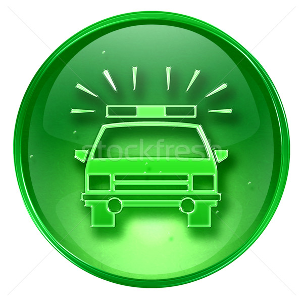 police icon green, isolated on white background. Stock photo © zeffss