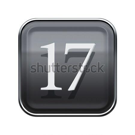 番号 7 グレー 孤立した 白 ストックフォト © zeffss