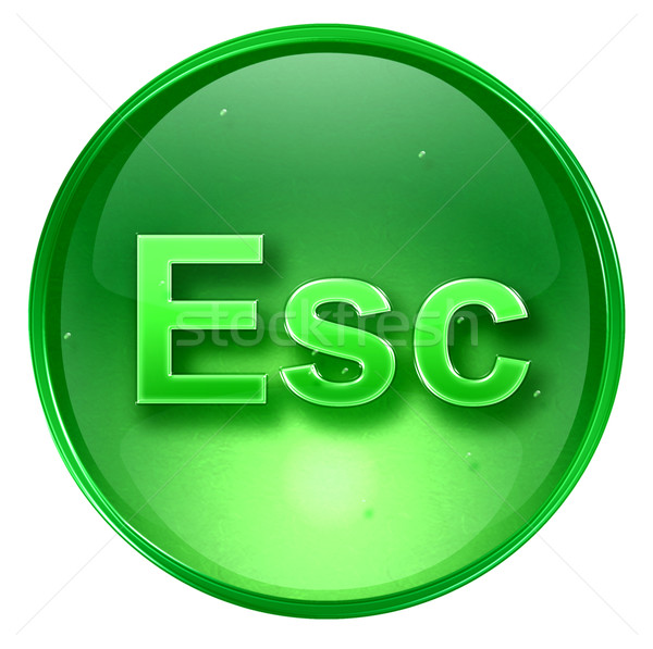 Esc icon green, isolated on white background.  Stock photo © zeffss