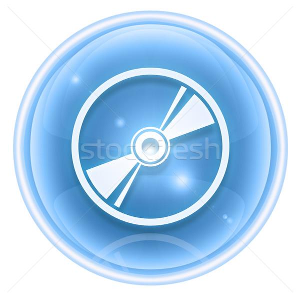 Compact disc icon ijs geïsoleerd witte ontwerp Stockfoto © zeffss