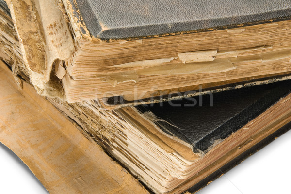old book, isolated on white background Stock photo © zeffss