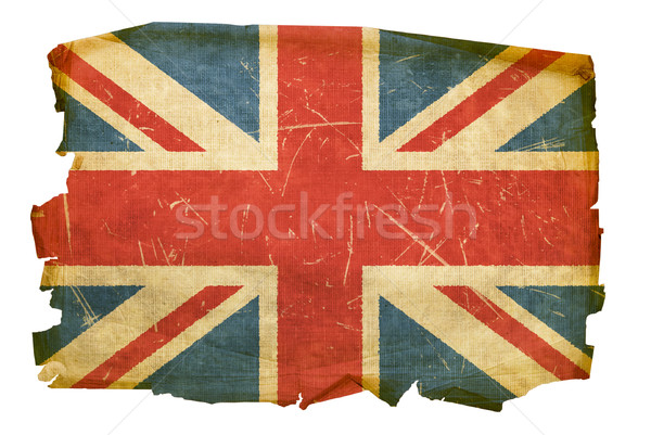 United Kingdom Flag old, isolated on white background Stock photo © zeffss