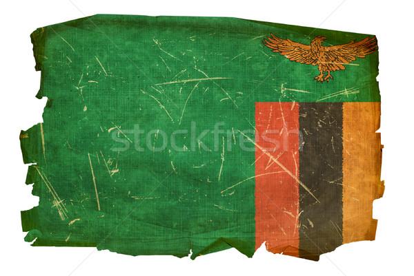 Замбия флаг старые изолированный белый дизайна Сток-фото © zeffss